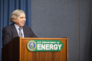 US Energy Secretary, Dr. Ernest Moniz, focuses on energy storage in the same week that he announces plans to dramatically restructure the Department of Energy.