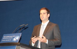 JB Straubel, CTO of Tesla Motors, at an electromobility summit in Berlin, Germany.