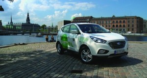 15 Hyundai ix35 hydrogen fuel cell vehicles have recently become part of the municipal fleet in Copenhagen, Denmark.