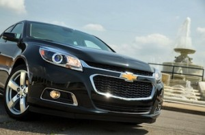 The Chevy Malibu, powered by a Johnson Controls AGM battery. Photo credit: General Motors