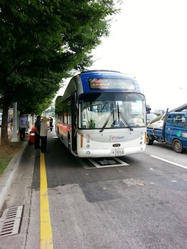 Korean electric bus