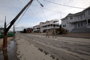 Energy storage can reduce grid outages due to storms like Sandy. Photo credit: The National Guard, New Jersey