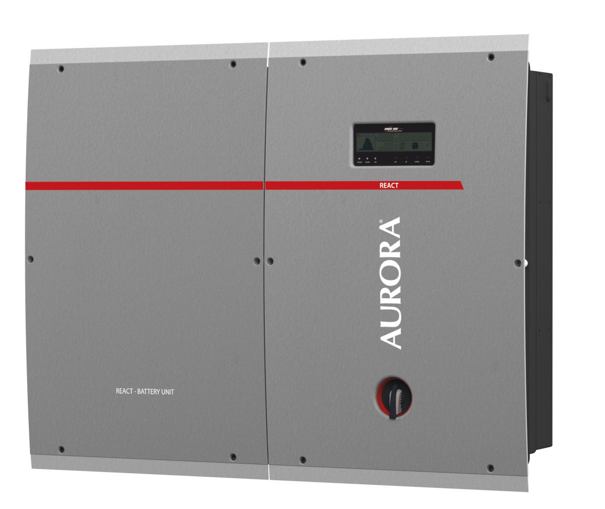 REACT energy storage system, with Aurora inverter. Photo credit: Power ...