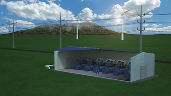 Isothermal compressed air energy storage (ICAES) technology enables a site-anywhere, zero-emissions storage solution. Photo credit: SustainX