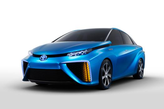 "The Toyota fuel-cell vehicle concept has been revealed, with vice president Bob Carter dismissing ""naysayers"" such as Elon Musk of Tesla Motors."