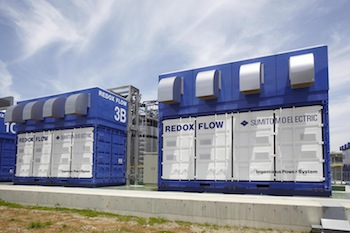 We assess the companies and projects in the flow battery market: from vanadium redox battery technology to zinc bromide, iron chromium, zinc iron and beyond. Photo credit: Sumitomo Electric