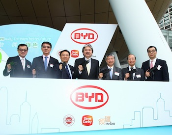 BYD of China reports that its electric vehicle sales grew tenfold in the first four months of 2014, in comparison with 2013, with further growth hampered by insufficient batteries.