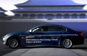 Sales of electric vehicles in China are set for huge growth, as 30% of all new government vehicles must be 'new energy' (electric, hybrid or fuel cell) by 2016. Photo: BMW Brilliance