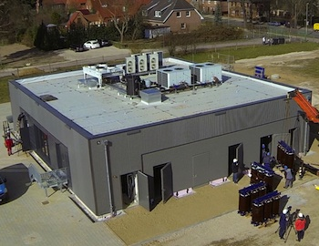 The largest commercial battery storage system in Europe, commissioned by WEMAG in Schwerin, Germany, is proving that battery energy storage can beat traditional power for grid frequency regulation. Photo credit: Younicos