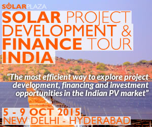 Solar project development & finance tour India: October 5-9, 2015, New Delhi-Hyderabad