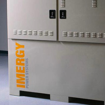 Vanadium redox flow battery developer Imergy will make a major strategic partnership announcement this year. Photo credit: Imergy Power Systems