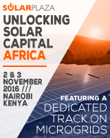 Solarplaza and GOGLA are proud to announce the organization of Unlocking Solar capital Africa (2-3 November 2016, Nairobi): the unique international platform and 2-day conference focusing on unlocking capital for new solar project development in Africa.