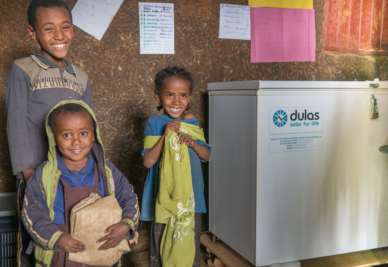 The Dulas solar-powered direct-drive vaccine fridge uses phase-change materials to store vaccines more effectively, helping save human lives.