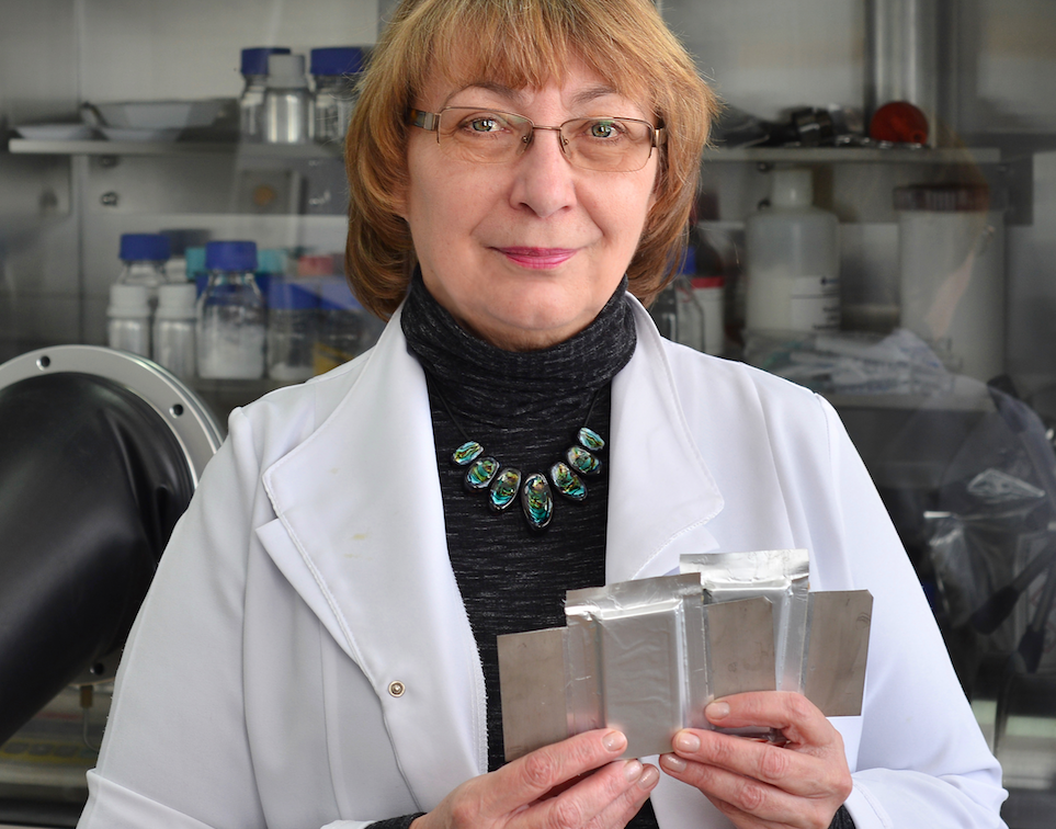 "Dr Natalia Stryzhakova, head of Yunasko's research labs: ""We are happy to get a low-cost ultracapacitor system capable of reliably working at temperatures as high as 100-110°C."" Pic: Yunasko."
