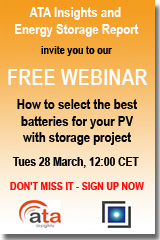 Sign up now for this free Energy Storage Report and Ata Insights webinar.