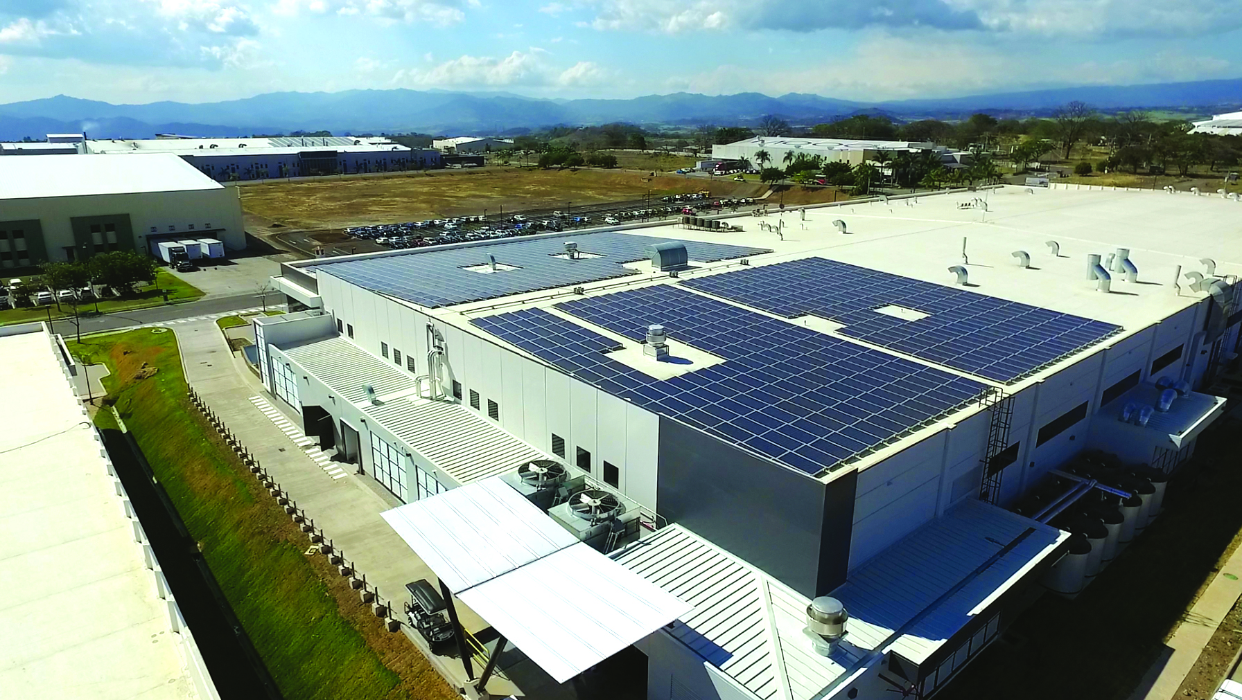 Demand Energy's storage-plus-solar-PV microgrid, the largest in Central America, provides improved power quality, energy savings, and renewables integration for Establishment Labs. Pic: Demand Energy.
