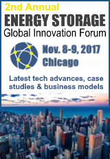 The 2nd Annual Energy Storage Global Innovation Forum is happening on November 8 and 9, 2017, in Chicago, USA.