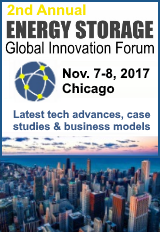 The 2nd Annual Energy Storage Global Innovation Forum is happening on November 7 and 8, 2017, in Chicago, USA.
