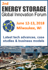 The 2nd Energy Storage Global Innovation Forum, June 12-13, 2018 in Milwaukee is a unique opportunity to network with several hundred business leaders and technology innovators who are driving today's stationary energy storage market.
