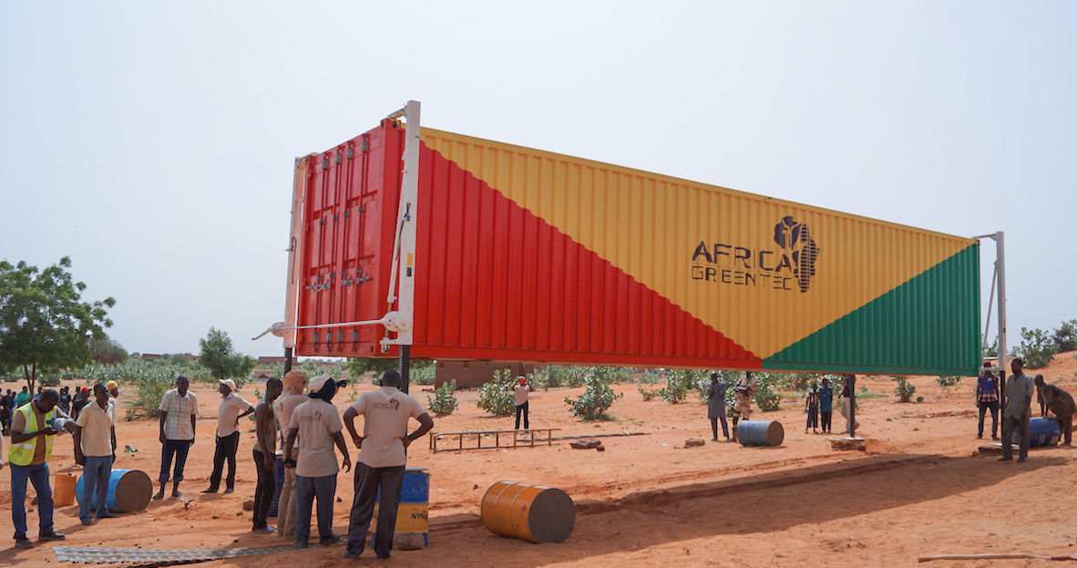 Africa GreenTec is planning to install solar-plus-storage containers across hundreds of villages in Mali and Niger. Pic: Africa GreenTec.
