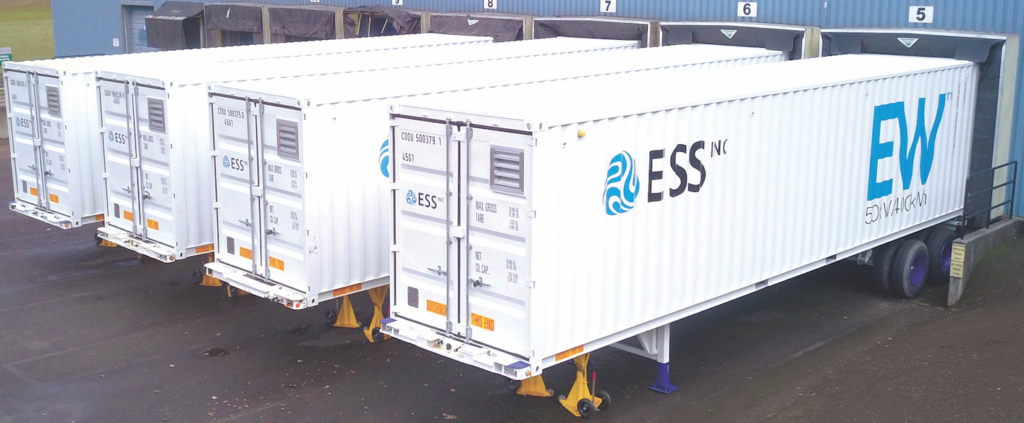 ESS Energy Warehouse flow battery containers awaiting shipment. Pic: ESS Inc.