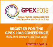 The Global Power & Energy Exhibition (GPEX), taking place in Barcelona, Spain on 17-20 September 2018, will showcase the strategies and technologies needed to adapt to the global transition, and the move towards a more sustainable, low-carbon and smart energy system.