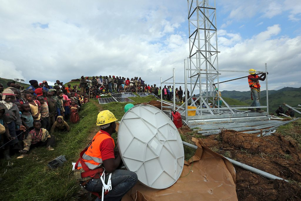 GenCell hopes to capture the market for energy supplies to telecommunications towers such as this one in the Democratic Republic of Congo. Pic copyright Susan Schulman, Vodafone.