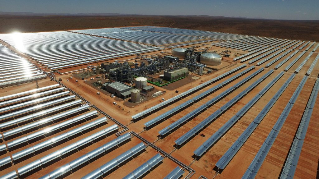 ACWA Power's Bokpoort CSP plant in South Africa. ACWA is building a similar storage-equipped plant in Dubai, with one of the lowest tariffs in the industry. Pic: ACWA Power.