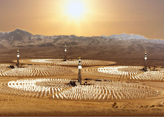 Commercial plants could produce hydrogen from solar power.