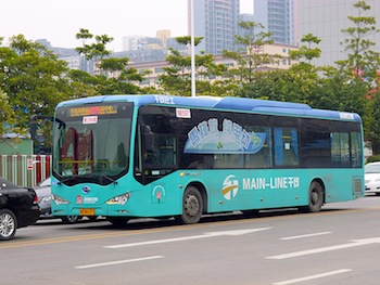BYD electric buses are headed for Hong Kong