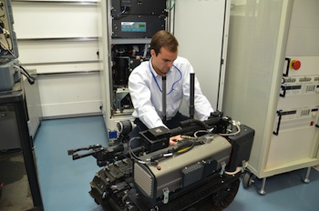 The US Army Tank Automotive Research, Development & Engineering Center (TARDEC) and GM are jointly testing fuel cells. Photo credit: General Motors